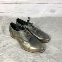 Wolverine Women's Jude Brush Off Gold Metallic Oxfords Loafers Shoes Sz 9.5