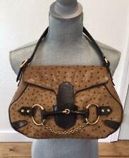 Gucci 114915 Ostrich Leather Horsebit Handbag