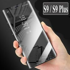 New Samsung Galaxy S9 & S9 Plus Smart View Mirror Leather Flip Stand Case Cover