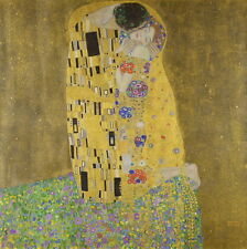 Gustav Klimt The Kiss Giclee Canvas Print Paintings Poster Reproduction Copy