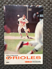 1963 BALTIMORE ORIOLES Official Yearbook- Brooks Robinson Cover 2nd Edition