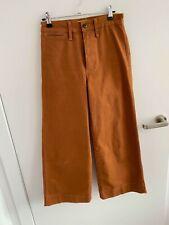 Madewell Emmett High Waist Crop Wide Leg Pants - Burnt Sienna - Size 24