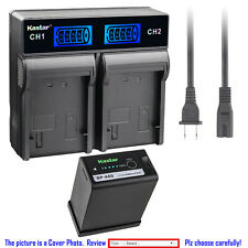 Kastar Decode Battery AC LCD Dual Rapid for Canon US 0870C002 Battery BP-A65 A60