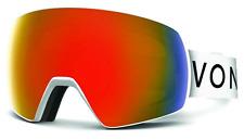 NEW Von Zipper Satellite Goggles-WFC White Satin-Fire+Bonus-SAME DAY SHIPPING!