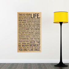 This Is Your Life Motivational Inspirational Quote Art Paper Poster 18x29 inch