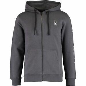 SPYDER Men's Grey Hooded Jacket Size: M, L, XL