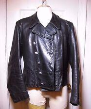 WW2  German  Panzer black-leather jacket -sz Med
