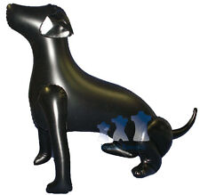 Inflatable Mannequin, Large Dog Sitting, Black