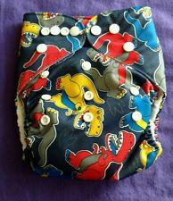 AIO Unisex Print One Size NIP Tagless ALVA cloth double-gusset diaper US Seller