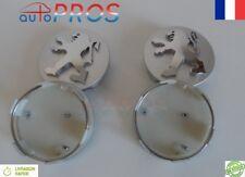 4 LOGO EMBLÈME PEUGEOT 60 mm GRIS caches moyeu jante, centre de roue/ NEUF