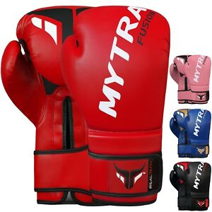 Mytra Fusion Real Tech Boxing Gloves MMA Muay Thai Training Sparring Gloves