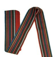 Multi Colour //Black //White 6cm Wide Stretch Elastic Waistband Cuffs WAVY Elastic
