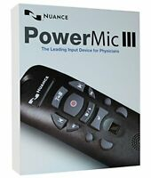 Nuance PowerMic III Speech Recognition Dictation Microphone with Cradle and 3