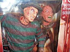 "18"" motion activated sound Freddy Krueger (MIB) Nightmare on Elm St (2004) NECA"