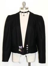 "YESSICA JACKET BLACK WOOL German Women EMBR BUTTERFLY Suit Short 46 14 L B44"""