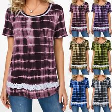 Plus Size Womens Short Sleeve T Shirts Baggy Blouse Casual Tops Tunic Shirt