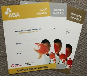 ABA BOXING CERTIFICATES, GREAT FOR THE GYM LITTLE ROCKY'S, GOLD, SILVER & BRONZE