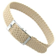10mm Sport Wrap Nylon Buckle Woven Braided Tan Brown Replacement Watch Band