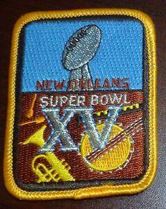 Super Bowl XV 15 Patch Oakland Raiders Philadelphia Eagles 1981 New Orleans 2x3