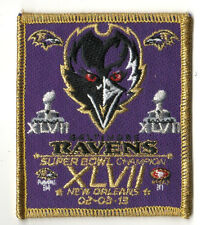 NFL CHAMPION GAME SUPERBOWL XLVII SUPER BOWL 47 JERSEY INSIGNIA IRON-ON PATCH a