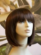 NEW LADIES WOMENS SHORT BOB STYLE FULL WIG WARM MEDIUM BROWN  B38 #10 UK SELLER