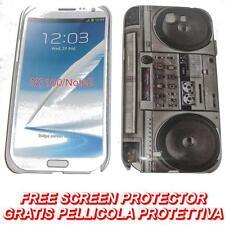 Pellicola + custodia BACK cover RIGIDA STEREO per Samsung Galaxy Note II N7100