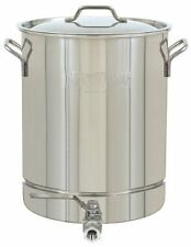 Bayou Classic 1032 8 Gallon Stainless Stockpot Spigot Lid Ships in USA Fast
