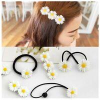 Accessories Headwear Bobby Pins Mini Daisy Hair Clip Elastic Rope Barrettes