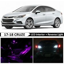 14x Purple Interior Reverse Backup LED Light Package for 2017-2018 Chevy Cruze