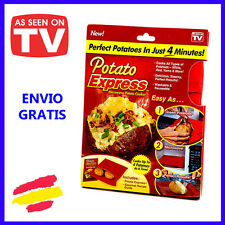 POTATO EXPRESS Bolsa para cocinar PATATAS en el Microondas Visto en TV