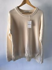 [CR LOVE] SZ XL NEW! [COUNTRY ROAD] CREW NECK KNIT WOOL CREAM - 16