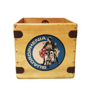 "Quadrophenia Record Box 7"" Single Boxes Wooden Crate Records Mod Scooter"