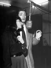 Photo originale Jean-Claude Pascal Juliette Gréco chant radio 1953