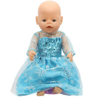 1set Doll Frozen dress Wearfor 43cm Baby Born zapf (only sell clothes ) B125