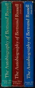 Bertrand Russell. The Autobiography of Bertrand Russell. 3 vols. 1. edition.