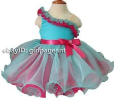 Infant//toddler//baby Lace Crystals Pageant Dress G204C size 6-9months to  size6T