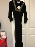 Badgley Mischka by American Glamour Black Maxi Dress Size S