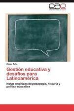 Gestion Educativa y Desafios Para Latinoamerica (Paperback or Softback)