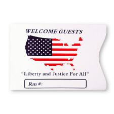 Hotel Keycard Envelopes Sleeves USA Flag Map- Box of 500 Buy 1 or Many!
