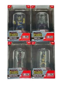 Domez Marvel Zombies Collectible Figures Lot Of 4 Deadpool Wolverine Hulk Thanos