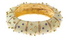 Jacqueline Kennedy Ivory Enamel Bangle/ Bracelet Camrose & Cross retired elegant
