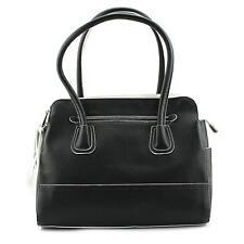 Emilie M. Gloria Double Zipper Shoulder Bag Women Black NWOT