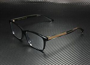 GUCCI GG0530O 004 Square Black Shiny Crystal Demo Lens 57 mm Men's Eyeglasses