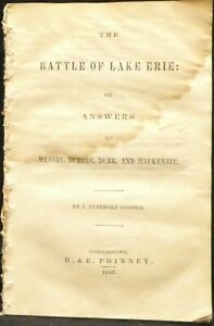 Cooper, James Fenimore. Battle Lake Erie, or Answers to Messrs. Burges, etal.