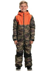 Ski Snowboard Kids Boys One Piece Suit Medium Dark Camo 686 Shazam 2020