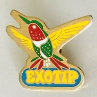 Exotip Brand Hummingbird Bird Advertising Lapel Pin Badge Vintage (N19)