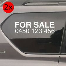 For Sale Car Stickers, 350 mm wide