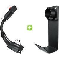 Tesla to J1772 Adapter and Electric Vehicle EV Charger Hook Dock Cradle Bundle