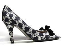 b5936eaf6185 J Crew Womens Size 8 Peep Toe Pumps Bow Dress Shoes Heels