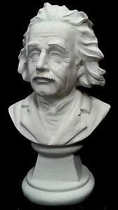 Albert Einstein Bust Sculpture 25 cm High. Perfect Display Size. Made in Sydney.